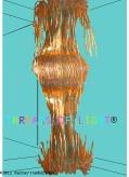 Turquoise/Gold Full length - unlit